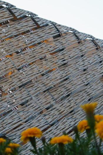 Drewniany pawilon Chinna wystawę Expo 2015 w Mediolanie